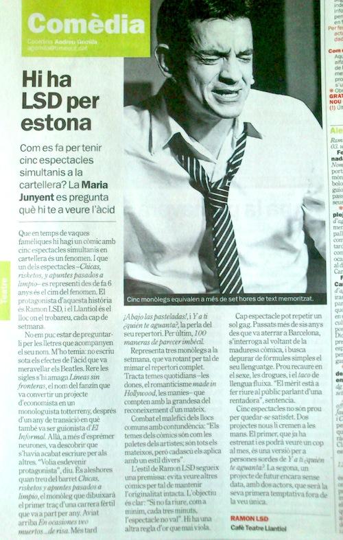 Ramón LSD en la revista Time Out Barcelona